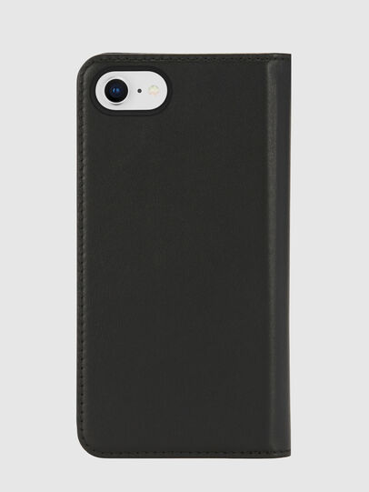 Diesel - SLIM LEATHER FOLIO IPHONE 8/7, Black - Flip covers - Image 2