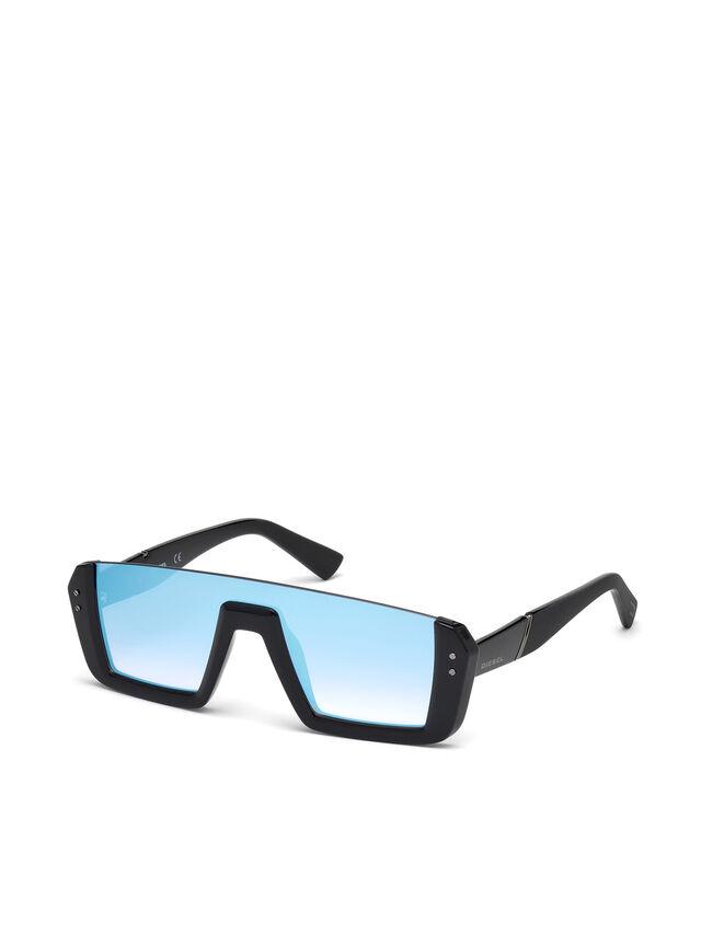 Diesel - DL0248, Bright Black - Eyewear - Image 4
