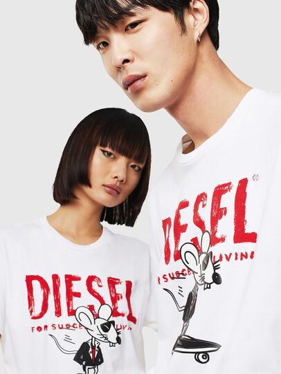 Diesel - CL-T-DIEGO-1, White - T-Shirts - Image 4