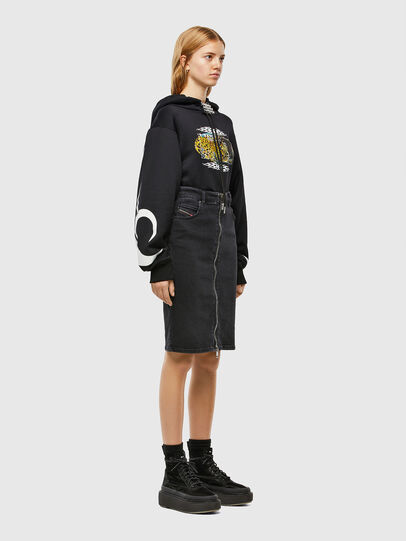 Diesel - DE-PENCIL-ZIP, Black - Skirts - Image 6