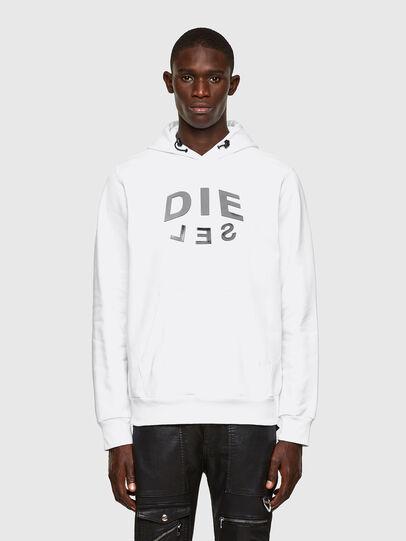 Diesel - S-GIRKEL-HOOD-A60, White - Sweaters - Image 1