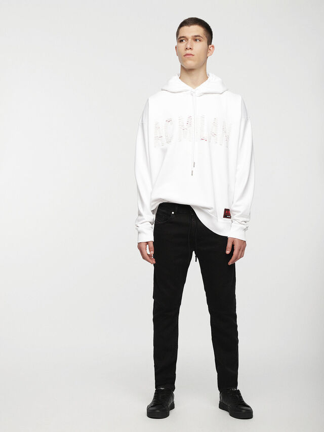Diesel - DVL-SIZIP-CAPSULE, White - Sweaters - Image 4