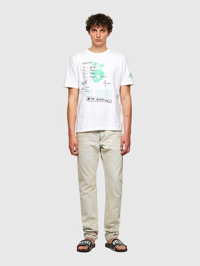 Diesel - T-JUST-B61, White - T-Shirts - Image 7