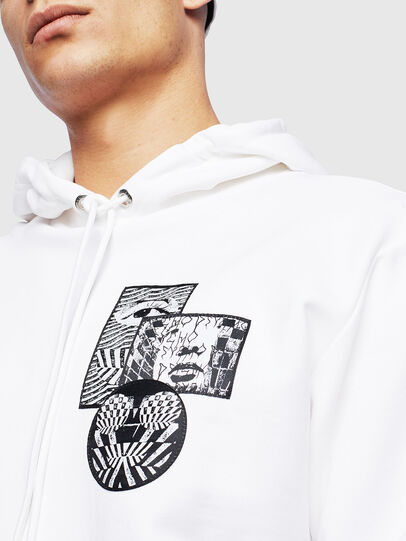 Diesel - S-GIRK-HOOD-S4, White - Sweaters - Image 5