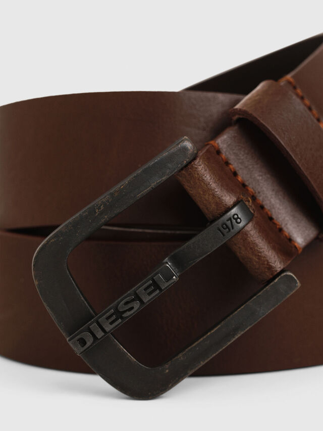Diesel B-DART, Brown Leather - Belts - Image 2