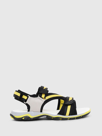 Diesel - SA 07 STRIPE YO, Gray/Black - Footwear - Image 1