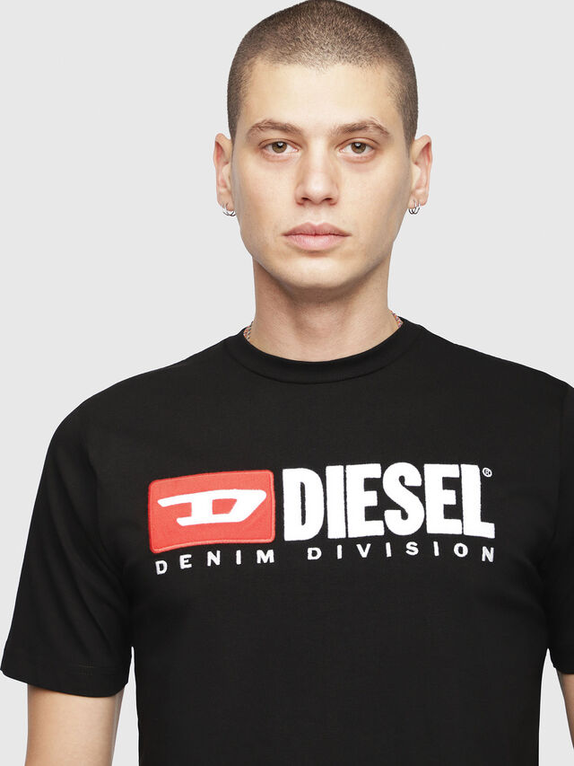 Diesel - T-JUST-DIVISION, Black - T-Shirts - Image 3