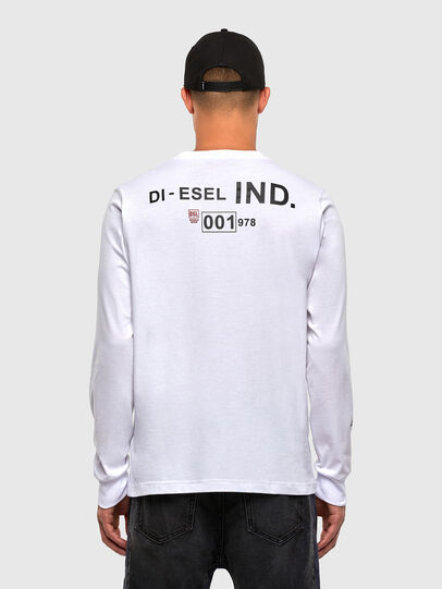 Diesel - T-JUST-LS-N62, White - T-Shirts - Image 2