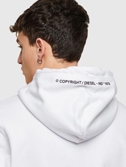 Diesel - S-GIRK-HOOD-ZIP-COPY, White - Sweaters - Image 3