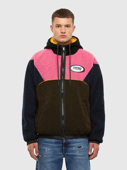 Diesel - W-ETHAN, Blue/Pink - Winter Jackets - Image 1