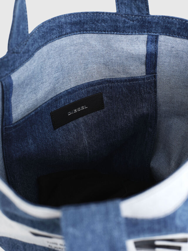 Diesel - F-THISBAG SHOPPER NS, Blue Jeans - Shopping and Shoulder Bags - Image 3
