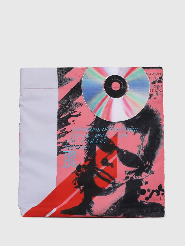 Diesel - F-LITT SHOPPER EW, White/Pink - Shopping and Shoulder Bags - Image 2