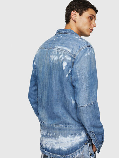 Diesel - D-FRED, Light Blue - Denim Shirts - Image 6