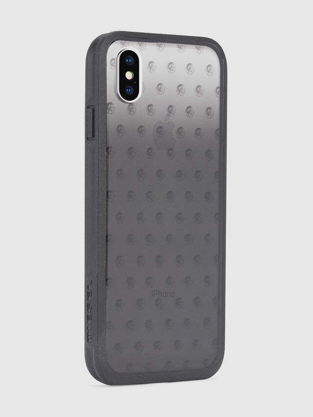 Diesel MOHICAN HEAD DOTS BLACK IPHONE X CASE, Black/Grey - Cases - Image 5