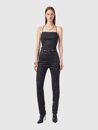 Diesel - D-SLING-SP JOGGJEANS, Black/Dark grey - Jumpsuits - Image 1