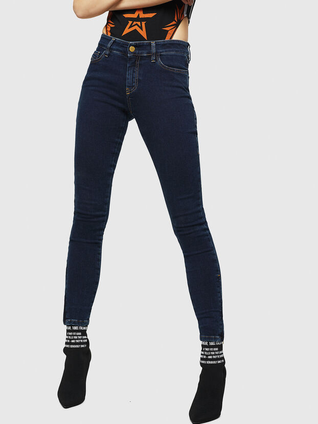 Slandy Zip 083AM, Dark Blue - Jeans