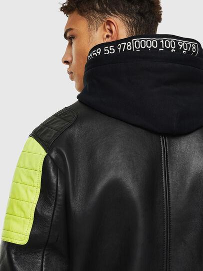 Diesel - L-BRANDO, Black - Leather jackets - Image 5