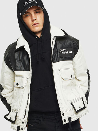 Diesel - J-KENDY, White/Black - Jackets - Image 4