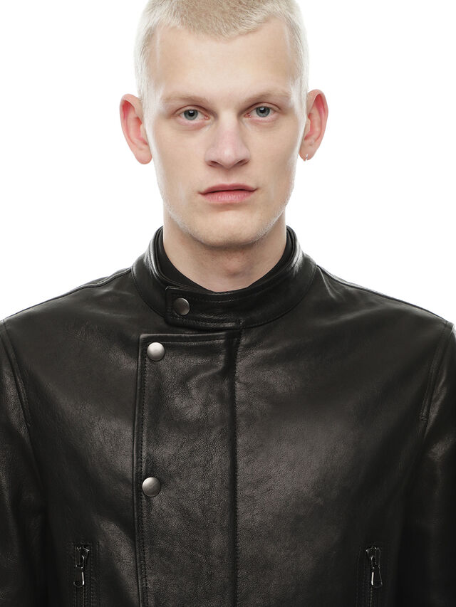 Diesel - LAZING, Black - Leather jackets - Image 5