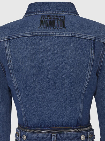Diesel - DE-BLOCHY, Medium blue - Denim Jackets - Image 5