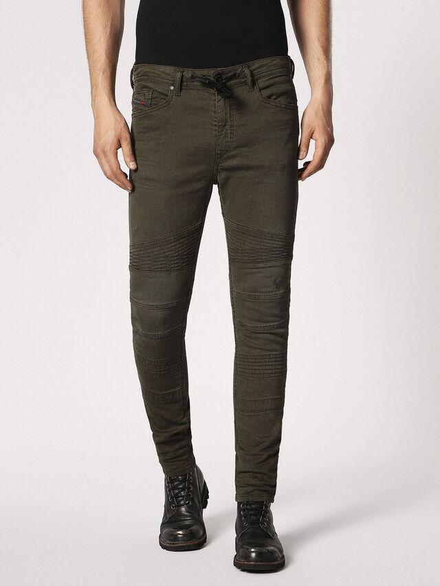 Diesel - BAKARI JOGGJEANS 0684T, Olive Green - Jeans - Image 1
