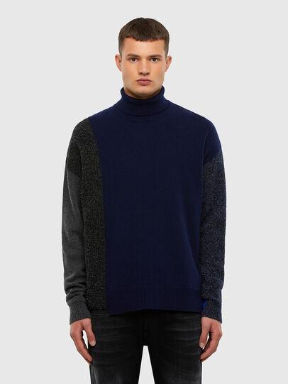 Diesel - K-MEL, Dark Blue - Knitwear - Image 1