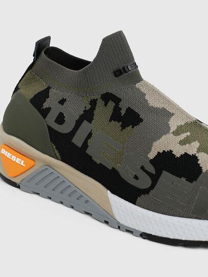 Diesel - S-KB ATHL SOCK II, Green Camouflage - Sneakers - Image 4
