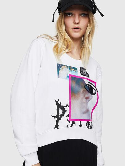 Diesel - F-LYANYDY-B, White - Sweaters - Image 1