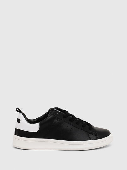 Diesel - SN LOW LACE 11 FULL, Black/White - Footwear - Image 1