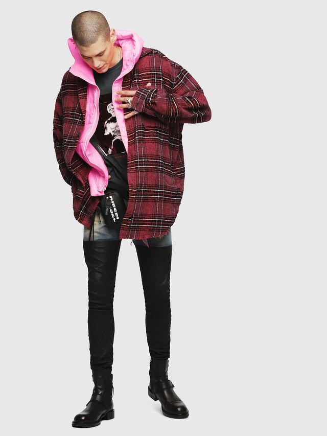 Diesel - W-SUN-REV-SLESS, Pink Fluo - Winter Jackets - Image 4