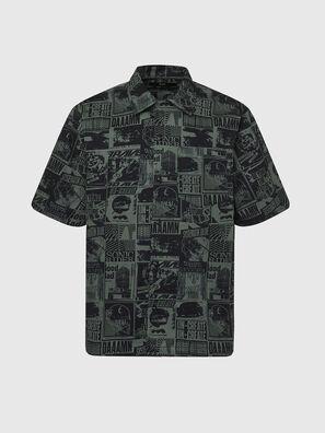 S-ROHAD-B, Black/Green - Shirts