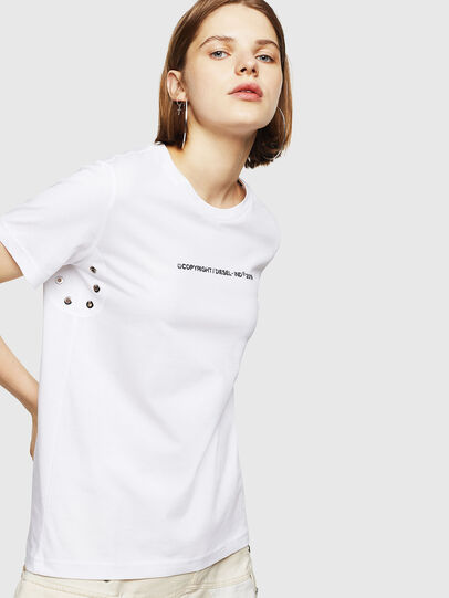 Diesel - T-SILY-WR, White - T-Shirts - Image 1