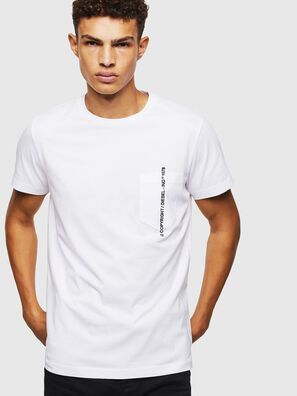 T-RUBIN-POCKET-J1, White - T-Shirts