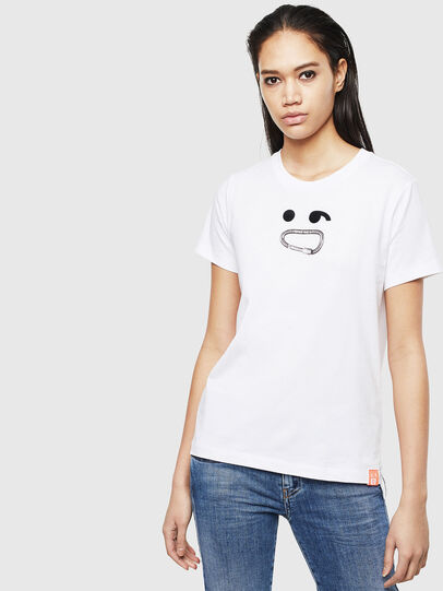 Diesel - T-SILY-S8, White - T-Shirts - Image 1
