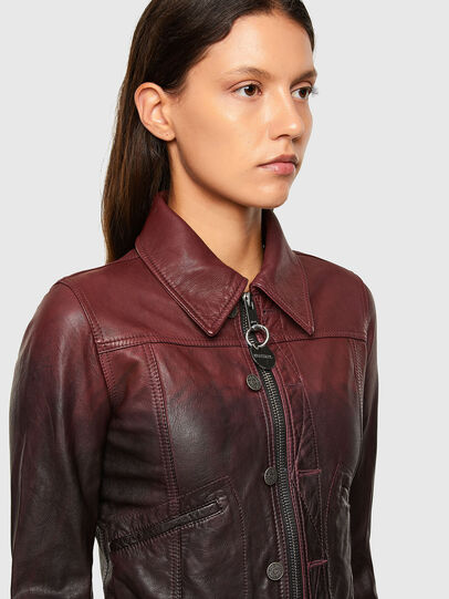 Diesel - L-SHAE, Dark Violet - Leather jackets - Image 3