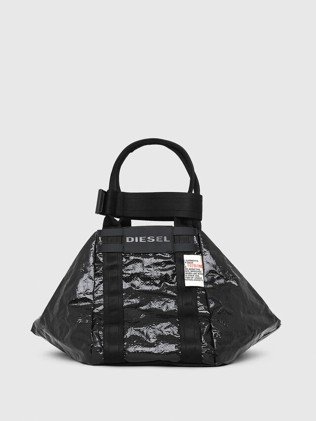 Diesel - D-CAGE SHOPPER, Black - Shopping and Shoulder Bags - Image 1