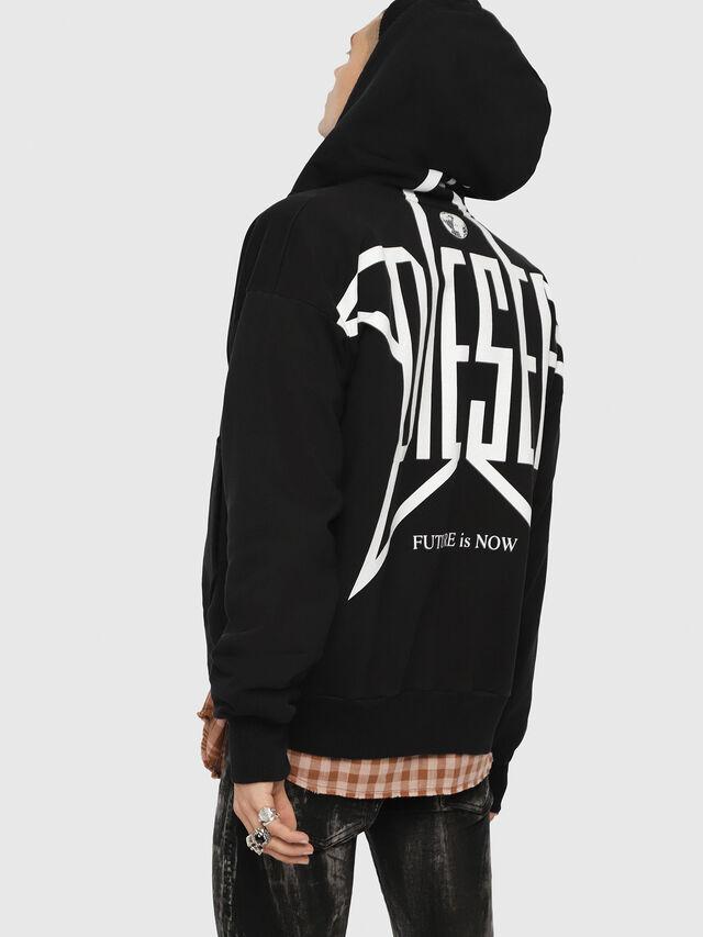 Diesel - S-ALBY-ZIP-YB, Black - Sweaters - Image 4