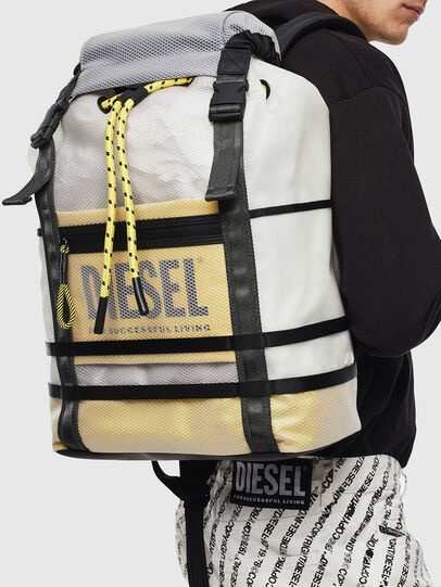 Diesel - F-SUSE BACKPCK, White/Yellow - Backpacks - Image 8