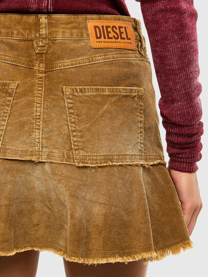 Diesel - O-BETH-C, Light Brown - Skirts - Image 5