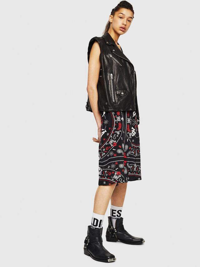 Diesel - O-MIYO-B, Black/Red - Skirts - Image 4
