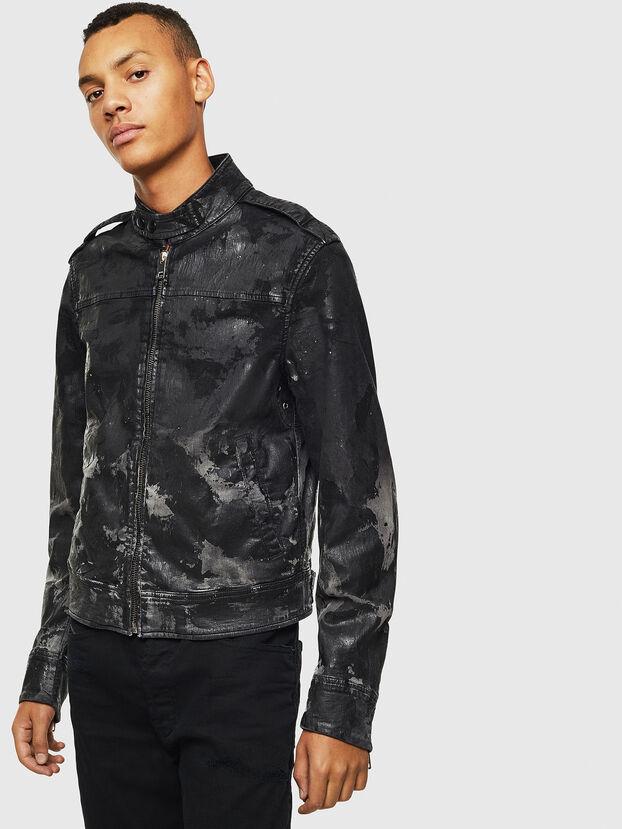 D-JEI-SP1 JOGGJEANS, Black/Dark grey - Denim Jackets