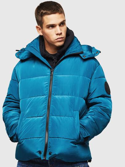 Diesel - W-SMITH-YA-WH, Blue Marine - Winter Jackets - Image 1
