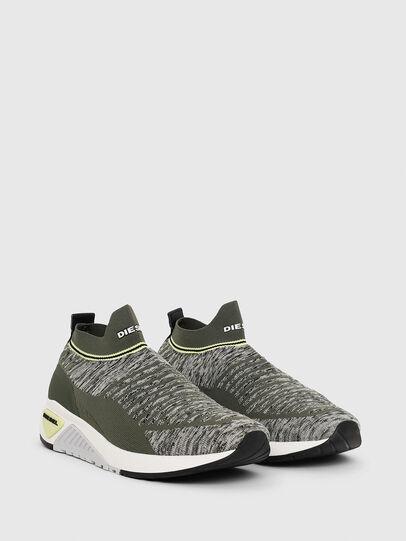 Diesel - S-KB ATHL SOCK II, Olive Green - Sneakers - Image 2