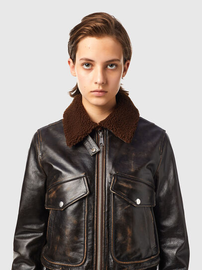Diesel - L-TRACY, Black - Leather jackets - Image 3