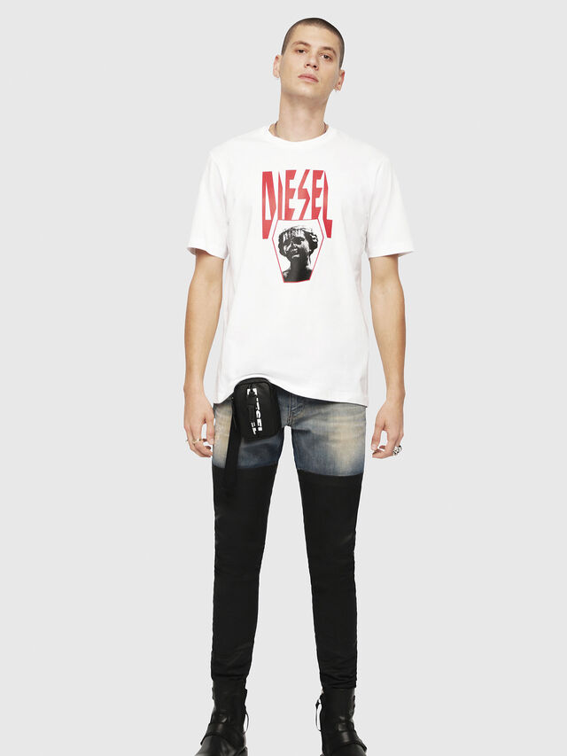 Diesel - T-JUST-YE, White - T-Shirts - Image 4