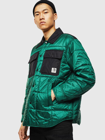 Diesel - J-WELLES, Green - Winter Jackets - Image 1