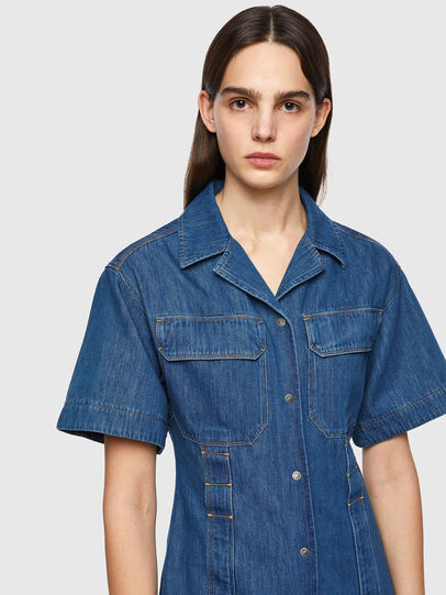 Diesel - DE-AMABEL-SP, Medium blue - Dresses - Image 3