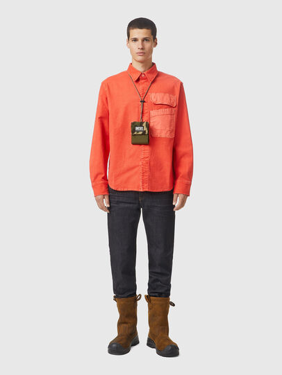 Diesel - D-HORU-SP JOGGJEANS, Orange - Denim Shirts - Image 5