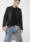 L-QUAD, Black Leather - Leather jackets