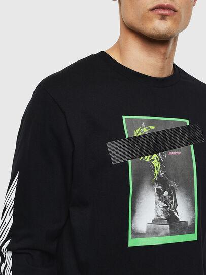 Diesel - T-JUST-LS-T13, Black - T-Shirts - Image 3